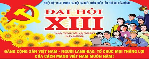 NHIỆT LIỆT CHÀO MỪNG ĐẠI HỘI ĐẠI BIỂU TOÀN QUỐC LẦN THỨ XIII CỦA ĐẢNG!